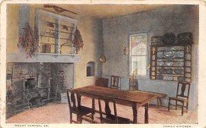 Family kitchen Mount Vernon, Virginia, USA George Washington 1924