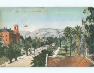 Divided-Back HIGH SCHOOL SCENE San Bernardino California CA E2511