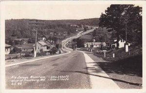 Maryland Frostburg Big Savage Mountain Street Scene Real Photo RPPC