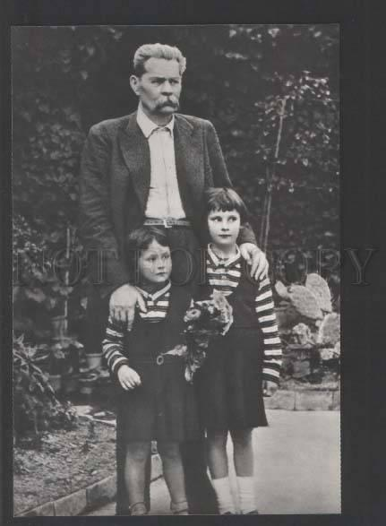 118618 Maxim GORKY Russia WRITER & granddaughters old PHOTO PC