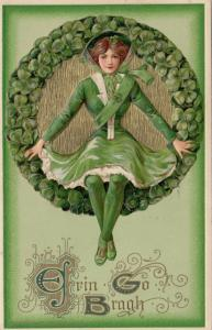 Winsch ; Samuel Schmucker: ST PATRICKS DAY ; Girl sitting on Wreath