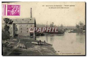Old Postcard Environs de Rennes Pont Rean Mill and Deversoir