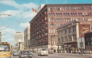 Portage Avenue looking East, Winnipeg , Manitoba , Canada , 40-60s