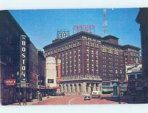 Pre-1980 HOTEL & SHOPS ALONG THE STREET Grand Rapids Michigan MI AE1210