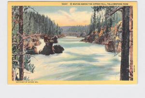 VINTAGE POSTCARD NATIONAL STATE PARK YELLOWSTONE UPPER FALLS #2 RAPIDS ABOVE
