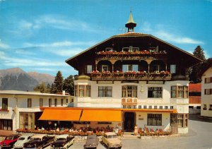 Igls Sporthotel Tirol Vintage Cars Pension Postcard