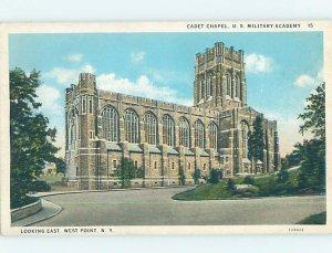 W-border CHURCH SCENE West Point - Near Newburgh & Peekskill New York NY AD1186