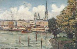 ROUEN, France, 1900-10s; La Seine et les Quais, TUCK Serie 108 P No. 12