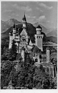 Schloss Neuschwanstein Castle Mountains Chateau Postcard