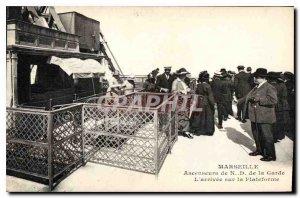 Postcard Old Marseille Anscenseur N D The arrival of the Guard on the Platform