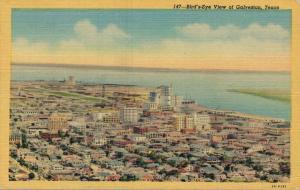 USA - Bird's eye view of Galveston - Texas 01.65