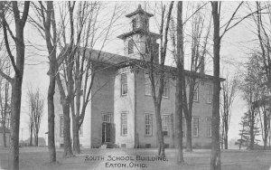 F36/ Eaton Preble County Ohio Postcard 1910 South School Building 5