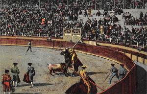 Bull Fight Tarjeta Postal Bullfighting Mexico Unused