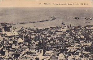 Vue Generale Prise De La Casbah, Alger, Algeria, Africa, PU-1913