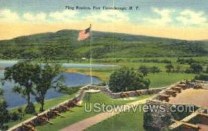 Flag Bastion Ticonderoga NY Unused