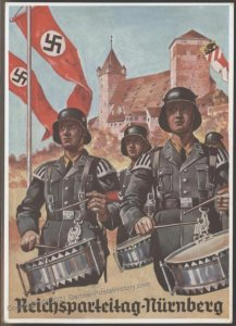 3rd Reich Germany 1936 Waffen SS Drummers Reichsparteitag Last Day Rally  103099