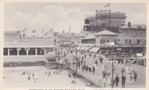 New Jersey Atlantic City Boardwalk At Steeplechase Pier Albertype sk1749