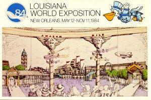 Louisiana World Exposition, 1984 - Scene Around the Lagoon