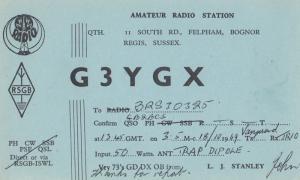 Felpham Bognor Regis Sussex QSL Amateur Radio 1960s Postcard