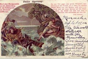 PAINTING DEPICTING TELLS SPRUNG VON GRIMM TEXT 1905