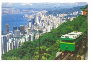 Hong Kong , China, 50-70s ; Peak Tramway train