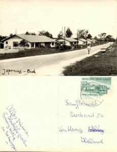 dutch new guinea, BIAK, Japenweg (1961) RPPC Stamp