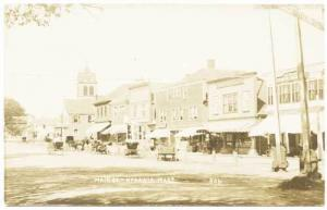 Hyannis MA Dirt Street Horse Wagons Store Fronts RPPC Real Photo Postcard