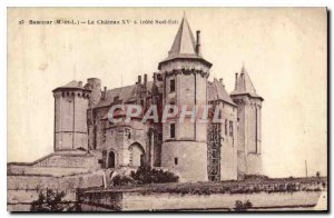 Postcard Old Saumur Maine et Loire Chateau XV South East Coast