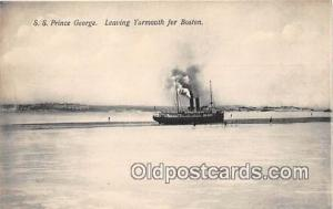 SS Prince George Yarmouth for Boston USA Ship Postcard Post Card Yarmouth for...