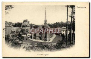 Old Postcard Fougeres Saint Sulpice