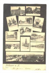 Heilbronn a. N., Germany. PU-1906 ; 12 view postcard
