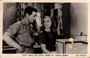 CPA Greta Garbo en Clark Gable FILM STARS (816190)