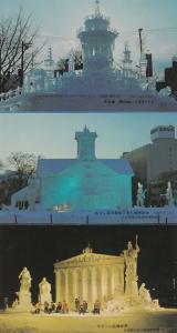 Sapporo Snow Festival 3x Japanese Japan Postcard s Bundle