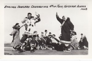 RP: KOTZEBUE , Alaska , 1930-40s ; Eskimo Dancers , July 4th
