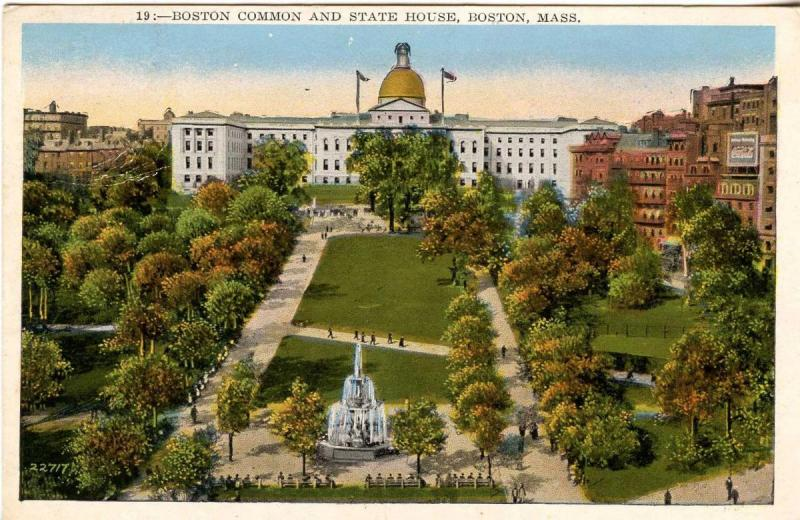 MA - Boston. State House and Common