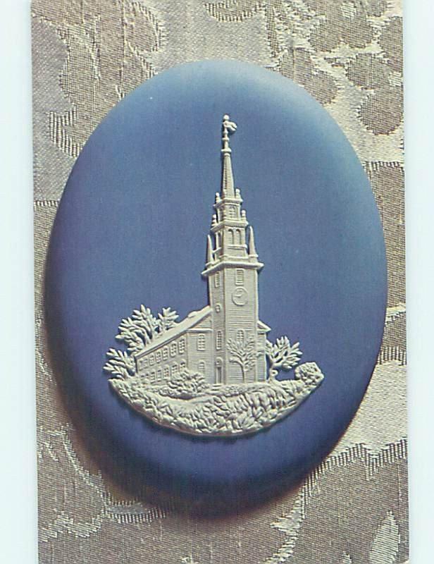 Pre-1980 CHURCH SCENE Newport Rhode Island RI AD0924