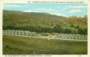 Camp Ground Colorado Springs Colorado Hammond Cottage City 1920s Postcard 4983