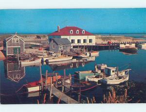 Pre-1980 HARBOR SCENE Menemsha Massachusetts MA hp7238