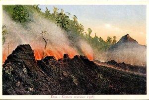 Italy - Mt Etna Volcano Eruption Crater, 1928