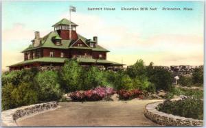 Princeton, Massachusetts Postcard SUMMIT HOUSE Hotel Hand-Colored Albertype