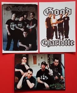 Set of 3 Postcards GOOD CHARLOTTE American Rock Band