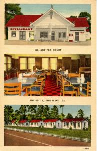 GA - Kingsland. Georgia & Florida Court, Cottages and Restaurant