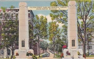 Michigan Grand Rapids Fulton Street Park and Memorial Towers