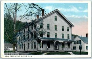 Milton, New Hampshire Postcard LAKE VIEW HOUSE Hotel Building c1920s Unused