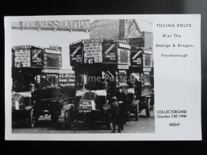 Omnibus TILLING ROUTE 47 GEORGE & DRAGON FARNBOROUGH Pamlin Print Postcard M2347