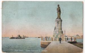 Egypt; Port Said, Statue Of Ferdinand De Lesseps PPC, 1911 PMK