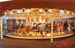 Newly Restored 1902 Herchel - Spellman Antique Carousel Trimper's Amusem...
