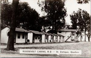 Roosevelt Cabins Saint-Zotique Quebec QC Unused RPPC Postcard F57