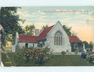 Corner Wear Divided-Back CHURCH SCENE Fort Plain New York NY A9956