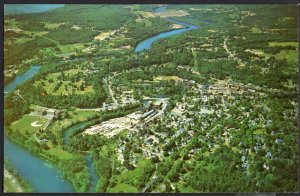 New Hampshire ~ FRANKLIN Aerial View Photo by Loran Percy Chrome 1950s-1970s